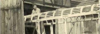 """Aufbau eines """"Opel Blitz"""" in eigener Garage 1956"""