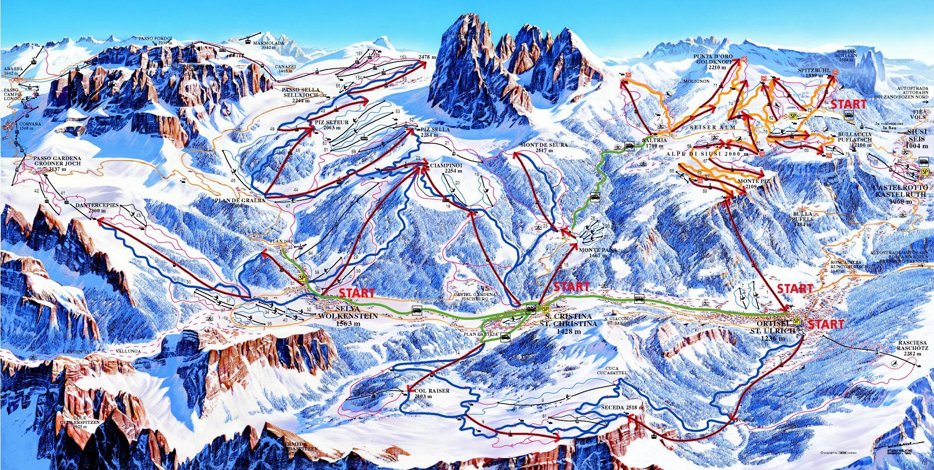 VORSCHAU 2019 - Skitour im Herzen der Dolomiten vom 27.02.-03.03.2019