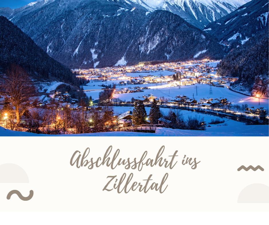 Abschlussfahrt ins Zillertal vom 04.12.-08.12.2021