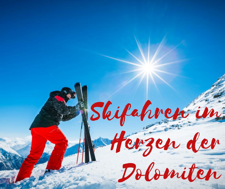 Skifahren im Herzen der Dolomiten, mit Südtiroler Gemütlichkeit und italienischer Lebensfreude vom 09.03.-13.03.2022