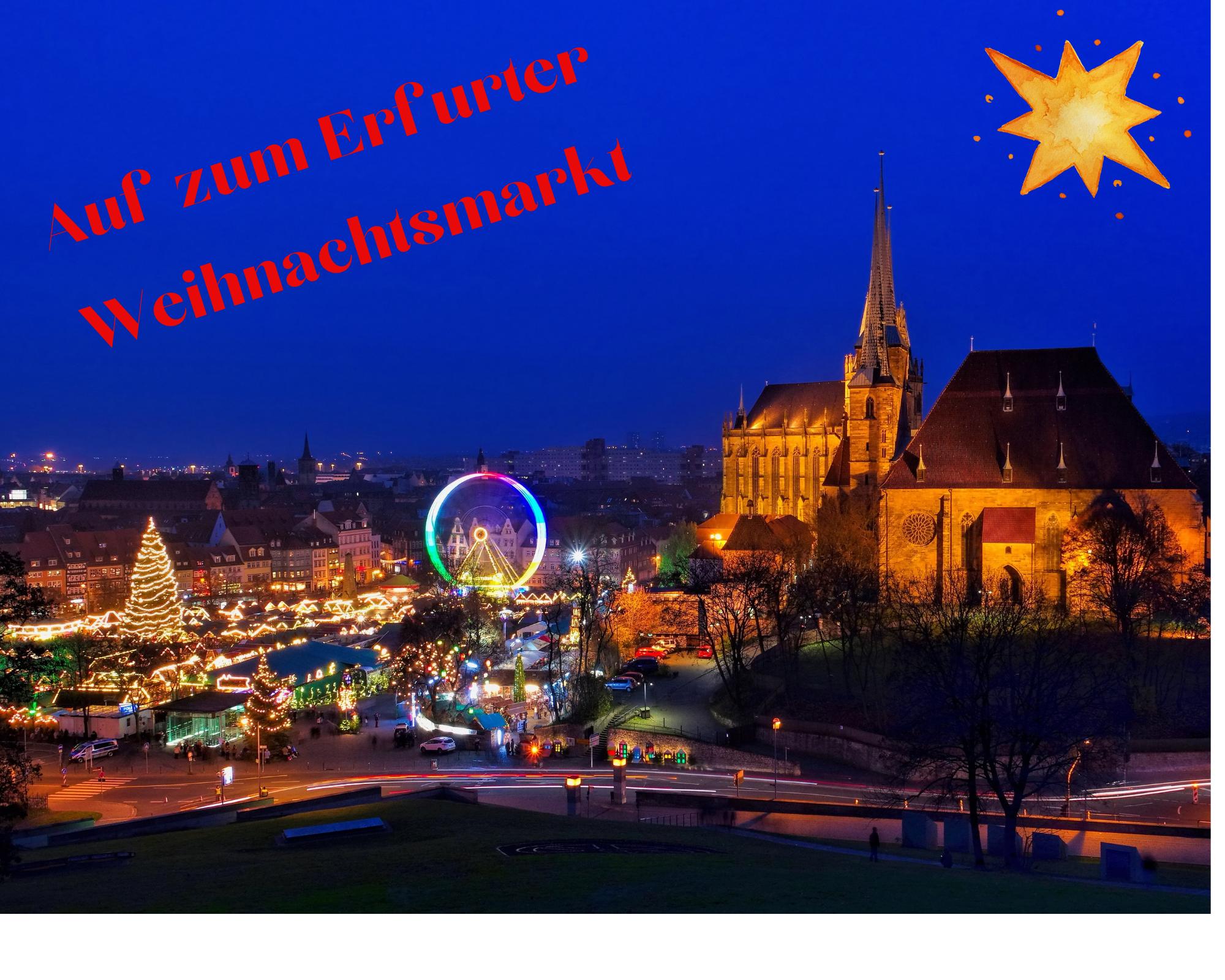 Erfurter Weihnachtsmarkt am 08.12.2021