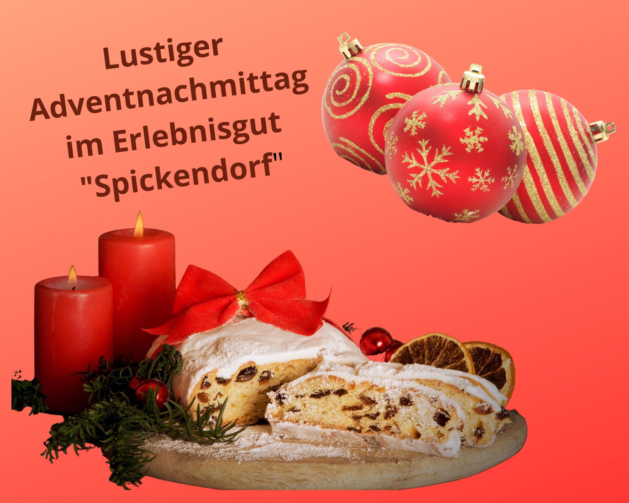 """Lustiger Adventnachmittag mit Marktfrau Regine im """"Erlebnisgut"""" Spickendorf am 30.11.2021"""