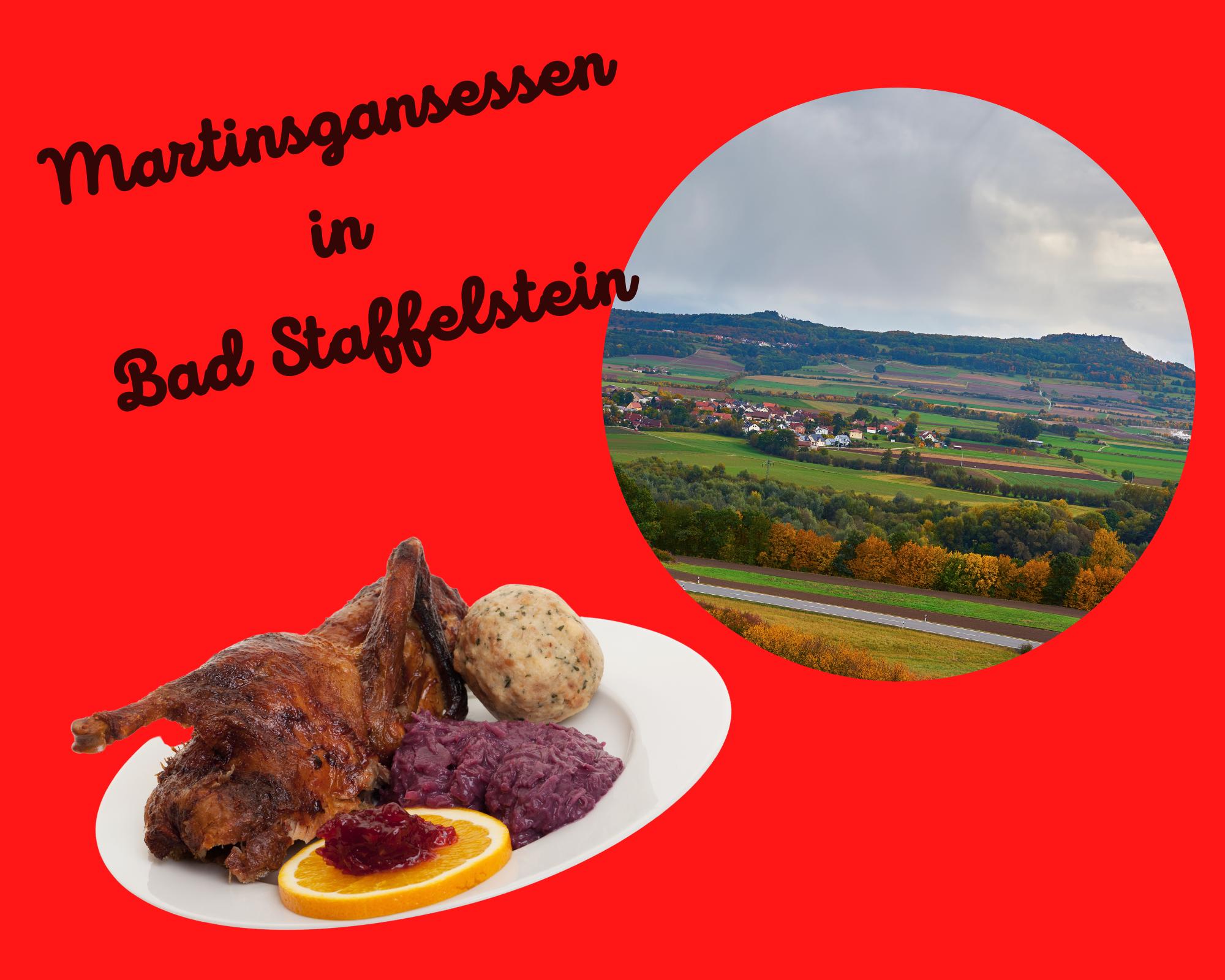 """Martinsgansessen im """"Gottesgarten am Obermain"""" Bad Staffelstein & Staffelberg am 11.11.2021"""